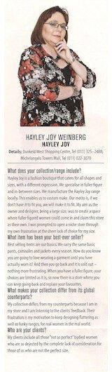 In The Media - Hayley Joy - Sandton Mag