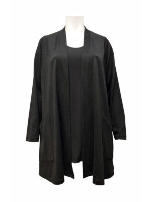 Hayley Joy Cashi Stolling Cardigan With Pockets – Black