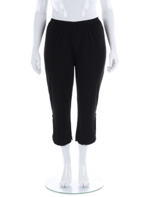 Hayley Joy 3/4 Plain Straight Leg Round Curly Pants