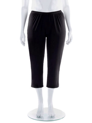 Hayley Joy 3/4 Plain Straight Leg Side Slit Pants