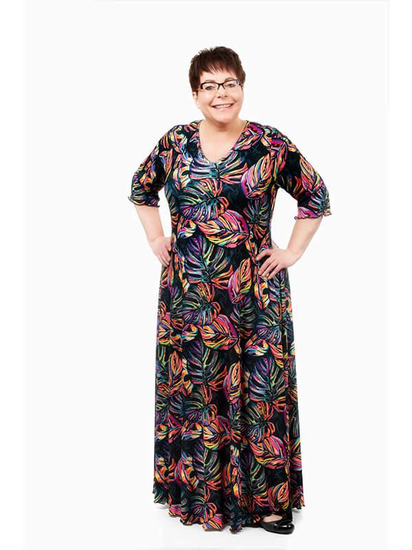 Rainbow Leaves Swirl Dress
